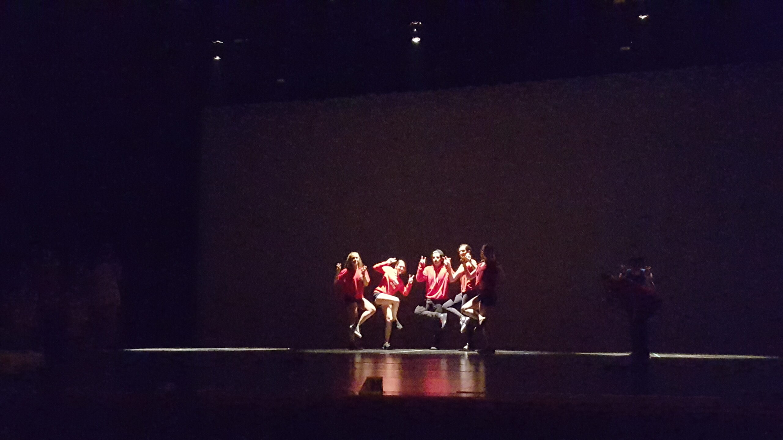dance group on stage
